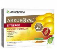 Arkoroyal Dynergie Ginseng Gelée Royale Propolis Solution Buvable 20 Ampoules/10ml à QUINCY-SOUS-SÉNART