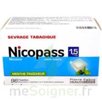 Nicopass 1,5 Mg Pastille Sans Sucre Menthe Fraîcheur Plq/96 à QUINCY-SOUS-SÉNART
