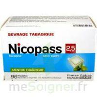 Nicopass 2,5 Mg Pastille Menthe Fraîcheur Sans Sucre Plq/96 à QUINCY-SOUS-SÉNART