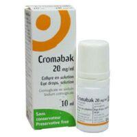 Cromabak 20 Mg/ml, Collyre En Solution à QUINCY-SOUS-SÉNART