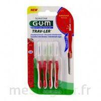 Gum Trav - Ler, 0,8 Mm, Manche Rouge , Blister 4 à QUINCY-SOUS-SÉNART