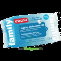 Assanis Family Lingette Antibactérien Mains Pochette/64 à QUINCY-SOUS-SÉNART