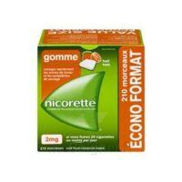 Nicorette 2 Mg Gomme à Mâcher Médicamenteuse Sans Sucre Fruits Plq/210 à QUINCY-SOUS-SÉNART