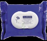 Klorane Soins Des Yeux Au Bleuet Lingette Démaquillante Biodégradable 2*packs/25 à QUINCY-SOUS-SÉNART
